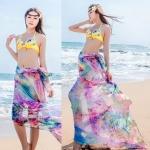 BW043 ผ้าคลุมเดินชายหาดลายกราฟฟิค colorful สดสวย ผืนใหญ่【พร้อมส่ง】