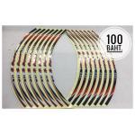 สติ๊กเกอร์ (Sticker) ติดขอบล้อ 17-18 นิ้ว สะท้อนแสง ฮายาบูสะ