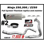 ท่อ Kawasaki Ninja250-300/Z250-300 Devil Full System Titanium replica and stainless #2