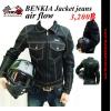เสื้อการ์ด BENKIA รุ่น JC34 Jacket jeans air flow (สีดำ)