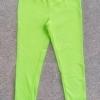 GP-099 (6-7Y) กางเกงเลคกิ้ง Nike สีเขียวใบตอง ปักแบรนด์ Nike สีขาว