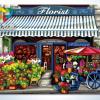 รหัส HB4050294 ภาพระบายสีตามตัวเลข Paint by Number แบบ Romantic Florist ขนาด40x50cm/พร้อมส่ง
