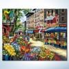 รหัส HB4050299 ภาพระบายสีตามตัวเลข Paint by Number แบบ Flower Market ขนาด40x50cm/พร้อมส่ง