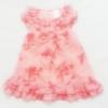 GD-180 (3M) ชุดกระโปรงผ้าชีฟอง Starting Out (Mini Skirt) สีชมพูลายดอก ติดโบว์ ระบาย 2 ชั้น
