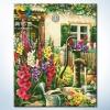 รหัส HB4050292 ภาพระบายสีตามตัวเลข Paint by Number แบบ The Garden ขนาด40x50cm/พร้อมส่ง