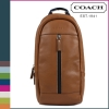 สินค้าอยู่ USA : กระเป๋า Coach Mens Heritage Web Leather Sling Bag Backpack Brown Saddle F70811