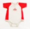 ฺBDS-370 (6-9M,12M) ชุดบอดี้สูท Nike สีเทา-แดง กุ๊นริมขาว ปัก OHIO STATE และปักสัญลักษณ์ Nike ที่ปลายแขน