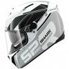 หมวกกันน็อค SHARK รุ่น Speed-R Sauer Wht/Sil/Blk 2012 Size XL 61-62 cm