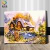 รหัส HB4050170 ภาพระบายสีตามตัวเลข Paint by Number แบบ Fairy House ขนาด40x50cm/พร้อมส่ง