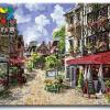 รหัส HB4050150 ภาพระบายสีตามตัวเลข Paint by Number แบบ Cafe ขนาด40x50cm/พร้อมส่ง