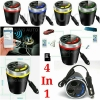 Car Cup Charger Mp3 & Bluetooth อุปกรณ์ชาร์จทรงถ้วย 4 In 1 ปี 2017