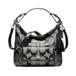 กระเป๋า Coach 22392  Legacy Signature Courtenay Hobo Bag Purse Crossbody Black White