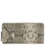 กระเป๋า COACH Embossed Exotic Python Leather Accordion Wallet Purse F50542