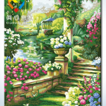 รหัส HB4050291 ภาพระบายสีตามตัวเลข Paint by Number แบบ Dream home ขนาด40x50cm/พร้อมส่ง