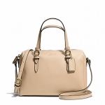 กระเป๋า Coach Peyton Bennett Mini Satchel Brass/Sand F50430 สีครีม