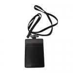 สินค้าพร้อมส่ง » ที่ใส่ ID CARD COACH F61313 SV/SD Lanyard ID Holder Leather สีดำ