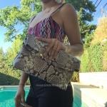 สินค้าพร้อมส่งจาก USA » กระเป๋า Michael Kors Daria Embossed Leather Fold Over Clutch Purse Bag Handbag $228