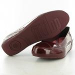 สินค้าพร้อมส่ง : รองเท้า FitFlop Due Patent Ballet Flat Shoes - Hot Cherry