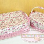 Rattan basket : pink