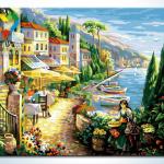 รหัส HB4050288 ภาพระบายสีตามตัวเลข Paint by Number แบบ Mediterranean ขนาด40x50cm/พร้อมส่ง