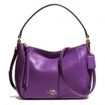 กระเป๋า COACH 51900 LIVIO MADISON LEATHER TOP HANDLE SATCHEL VIOLET