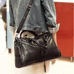 กระเป๋าแฟชั่น มีสายยาวสะพายไหล่ได้ HJ-A001 สีดำ
