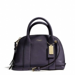 Coach F30140 Bleecker Mini Preston Pebbled Leather Satchel สีNAVY