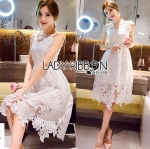 Lady Maria White Lace Dress
