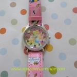 นาฬิกาข้อมือเด็ก เจ้าหญิง princess ลายเจ้าหญิง สีชมพู