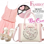 Classic Lady Pink Handbag By Cario