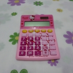 เครื่องคิดเลข คิตตี้ kitty#3 ขนาด 10 * 14 ซม. 12 หลัก สีชมพู