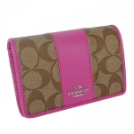 กระเป๋าสตางค์ COACH IMDMV Women's Coated Canvas/Leather Bi-fold Wallet