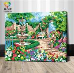 รหัส HB4050298 ภาพระบายสีตามตัวเลข Paint by Number แบบ Beautiful scenery ขนาด40x50cm/พร้อมส่ง