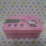 กล่องข้าว คิตตี้ kitty-2 ขนาด กว้าง 13 ซม. * ยาว 17 ซม. * สูง 6 ซม. สีชมพู มีตัวล็อกด้านบนกับด้านข้าง
