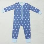 BDS-178 (18-24M) ชุดหมี Adams Baby สีฟ้าเทา ลายดาว และRib สีฟ้าอ่อน