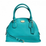 กระเป๋า Coach F34090 IMCTB Crossgrain MINI Cora Domed Satchel Cross body Leather Bag