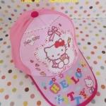 หมวก คิตตี้ kitty#2 สำหรับเด็กโต ลายคิตตี้โบว์ สีชมพู