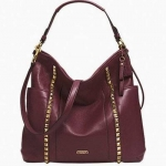 กระเป๋า COACH F32898 PARK LEATHER PYRAMID STUD HOBO BRASS/SADDLE