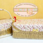 Rattan basket : gold