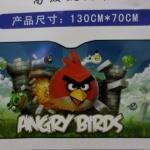 ฟอร์ยบังแดดหน้ารถ แองกี้เบิร์ด angry bird ขนาด 130 ซม. * 70 ซม. ลายหน้าแองกี้เบิร์ดสีแดง