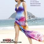 BW004 ผ้าคลุมเดินชายหาด ลายดอกไม้ Colorful 【พร้อมส่ง】