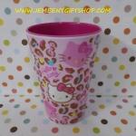 แก้วเมลามีน คิตตี้ Kitty ขนาด สูง 13.5 ซม. ความจุ 401-500 ML