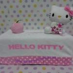 หุ้มกล่องทิชชู่สี่เหลี่ยม คิตตี้ kitty#7 ขนาดกว้าง ซม. * ยาว ซม. * สูง ซม. สีขาวชมพูจุดขาว ลายฮัลโหลคิตตี้โบว์ชมพู