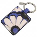 สินค้าพร้อมส่ง : พวงกุญแจ COACH 66317 SVBTA key ring floral picture frame silver / black