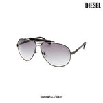 แว่นตา Diesel Women's Sleek & Chic Sunglasses Gunmetal & Gray