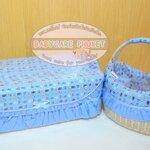 Rattan basket : blue