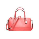 กระเป๋า COACH 49392 SAFFIANO LEATHER MINI SATCHEL CORAL