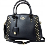 กระเป๋า Coach F35217 IMMID Studded Mini Margo Carryall Handbag Midnight