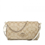 กระเป๋า COACH F34615 IMDQC SIGNATURE MINI RUBY CROSSBODY BAG LIGHT KHAKI CHALK