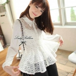 Lady Blooming Organdy Shirt (สีขาว)